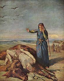 Une jeune fille cosaque trouve Mazeppa évanoui sur le cheval sauvage
